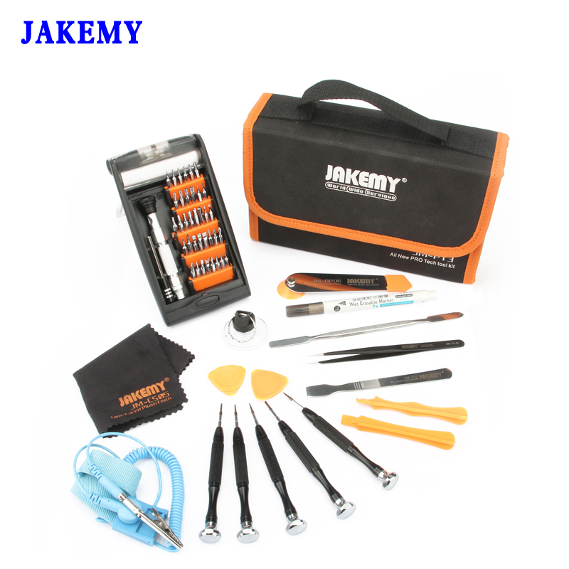 JAKEMY Repair Tools Kit Ferramentas Screwdriver/Metal Spudger/Oily Pen/Absorb Operating Mat For Computer Mobile Phone Furniture<br>