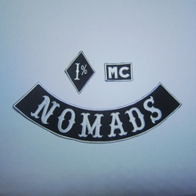 NOMADS 1% MC Custom  Embroidery for Jacket In On Motorcycle Patches