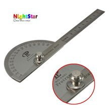 10cm Stainless Steel 180 Protractor Angle Finder Rule Measure Machinist Tool(China)