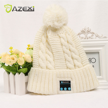 Azexi Warm Bluetooth Hat wireless music Cap for beautiful girl fashion Personal Adornment winter Listening music answering phone(China)