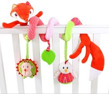 Hot Selling Cute animal fox Baby crib revolves around bed stroller car lathe hanging baby rattles Mobile toys(China)