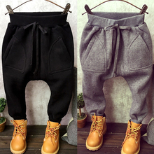 2016 new spring winter kids warm pants baby pants Clothing male child sports casual harem pants big PP pants long trousers(China)