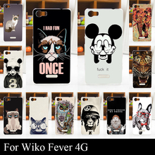 For Wiko Fever 4G 4 G Case Hard Plastic Mobile Phone Cover DIY Color Paint Painting Cellphone Bag Shell cases