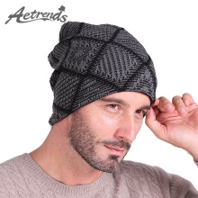 [AETRENDS] Winter Hats Men Hat Beanies Skullies with Velvet Inside Z-2019()