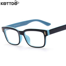 KOTTDO Retro Fashion Eyeglasses Men Women Square Eyeglasses Frame Unisex Optical Computer Eye Glasses Frame Oculos De Grau Z18