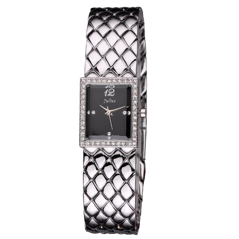 New Julius Lady Woman Wrist Watch Lux Fashion Hours Korea Dress Bracelet Shell Steel School Student Girl Valentine Gift JA-672<br>