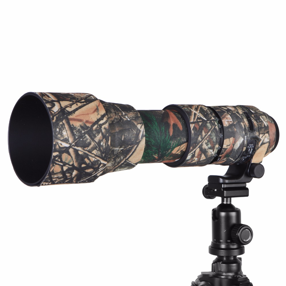 Contemporary Rubber Camouflage Neoprene Lens Coat Waterproof Lens Protective Coat Cover Camo Case For Sigma 150-600mm C version (9)