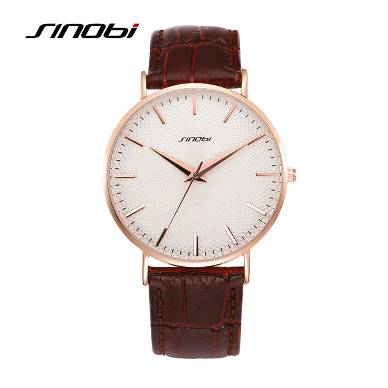 SINOBI Beautiful Natural Minimalism Watch Men Business Casual Gentlement Wristwatches Leather Dress High Quality Quartz Watches<br>