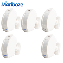 5PCS/lot Rechargeable Wireless 433MHZ Window Curtain PIR Motion Sensor Pasive Infraid Sensor for Home Alarm System