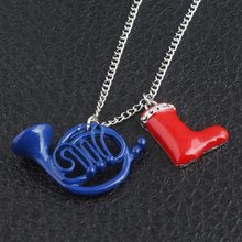 HOT SELL How I Met Your Mother Yellow Umbrella mother Blue French Horn and red shoes Necklace Pendant best christmas gift(China)
