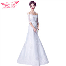 AnXin SH French style wedding dress sexy luxurious lace pearl fishtail bride wedding dress princess lace wedding dress 2032(China)