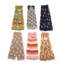 Baby Cotton Leg Warmers Kids Safety Crawling Infants Toddlers Baby Knee Pads Protector Leg Warmers Animal Print(China)