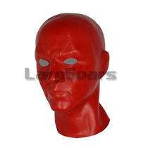 Buy Mould 3D red / black / pink latex human mask hood open eyes fetish BDSM cosplay hood
