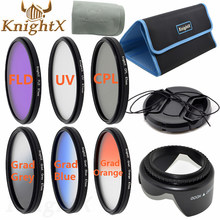 KnightX 67mm 52mm uv filter Star nd cross CPL Lens Kit for Canon Nikon d3200 d5200 d5100 Sony Digital Camera 650d 70d d7200 d60