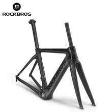 ROCKBROS T800 Carbon Road Bike Bicycle Frame Super Light Durable 700C 510/540/560mm Di2 Mechanical BSA Matte Frame+Fork+headset(China)
