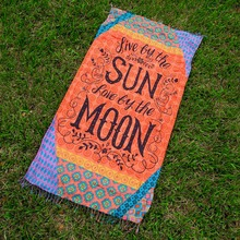 Puseky 2017 Vintage Women Rectangle Tassel Beach Yoga Mat Wrap Beach Towel Large Indian Mandala Tapestry Tablecloth Cover Up