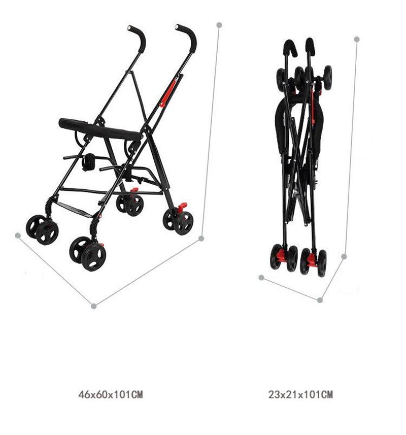 Newborn Baby Car Seat Stroller Carts Light Folding Portable With Children\'s Car Safety Seat Basket Steel Highland Baby Car Frame03