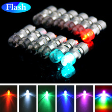 Top Quality+include battery 12pcs Holiday Lighting Batteries Operated Flash Screw thread RGB LED Balloon lights Lantern Decor