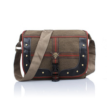 ZXG Brand Quality Retro Men Messenger Bags Skull Deco Shoulder Bag Student Package Adjustable Strap Mens Canvas Bags(China)