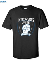 GILDAN Hot Sell INTROVERTS UNITE - SEPERATELY FUNNY T-SHIRT Make Your Own Shirt(China)
