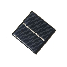 BUHESHUI 0.42W 3V Solar Cell Modul Polycrystalline DIY Solar Panel Charger System 1.2V Led Light Toy Education 54*54MM 60pcs/lot