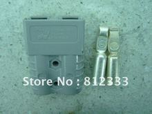 GENUINE ANDERSON GRAY SB120A 600V POWER CONNECTOR BATTERY CONNECTOR POWER PLUG WITH 2 AWG CONTACTS FOR ELECTRIC FORKLIFT STACKER