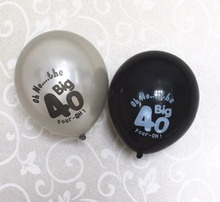 10CT Black Silver 40th 50th 30th 60th Birthday party decoration Latex Balloons Forty thirty sixty fifty celebration decorate(China)