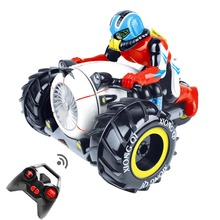 RC Car Dirt Bike Rock Crawler 2.4G Amphibious Radio Control Motorcycle Stunt Racing Vehicle Model Light Electric Hobby Toys