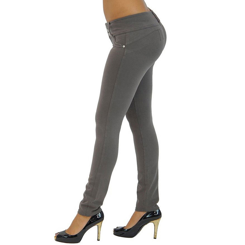 Sexy Push Up Leggings, Women's Denim Leggings, Casual Elastic Jeggings 15