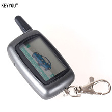 KEYYOU A9 LCD Remote Controller Keychain For Vehicle Security Two Way Car Alarm StarLine A9 Keychain Alarm System With Logo