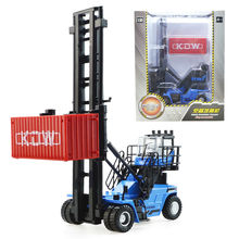 Alloy engineering vehicle container stacking machinesimulation children's toy model 1:50 christmas new year kid gift(China)