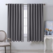 NICETOWN Solid Color blackout curtain Thermal Insulated rod pocket/back tab For Living Room Drapes Bedroom curtains Custom Made