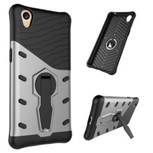 "For OPPO A37 5.0"" Phone Case Shockproof 360 rotating swivel bracket Phone shell Netted heat dissipation Armor Phone Case Cover"