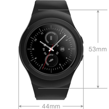 Rotating Bezel Clock Full Round Screen Smart Watch AS2 Bluetooth Smartwatch With Heart Rate Monitor For iOS Android PK G3 KW18