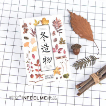 30 pcs/lot Dead leaves autumn leaves card Marine animals postcard landscape greeting card christmas card  message gift