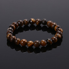 High Quality Tiger Eye Buddha Bracelets Natural Stone Lava Round Beads Elasticity Rope Men Women Bracelet Free Shipping 2016