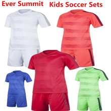 Kids Soccer Sets Ever Summit S1604 Boys Football Training Jersey Create Team Uniforms Design Customize 100% Cotton Match Shirts