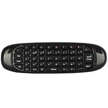 Wireless keyboard and mouse somatosensory flying Mini gyroscope double remote control C120(China)
