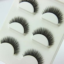 3 Pairs/1 set 3D Cross Thick False Eye Lashes Extension Makeup Super Natural Long Fake Eyelashes New(China)