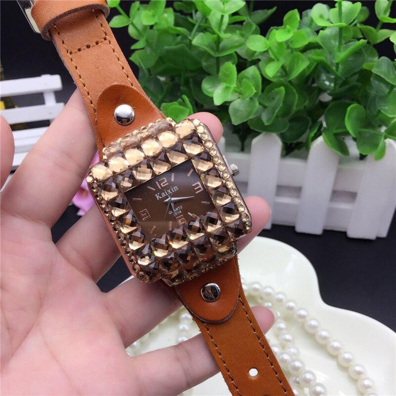 Fashion Top Brand Luxury Women WristWatch Square Style Full Diamond Rhinestone Female Watch Casual Quartz Leather Ladies Watches