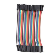 40PCS/LOT 10CM 1P-1P 40P 2.54mm Dupont Cable Female to Female Colorful Dupont Jumper Wire