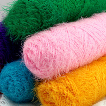 300g/Lot Plush Hand Knitting Yarn  Worsted Crochet Cotton Luxury Fur Knit Coton Soft Baby Yarns Multicolor Sweaters Thread lanas