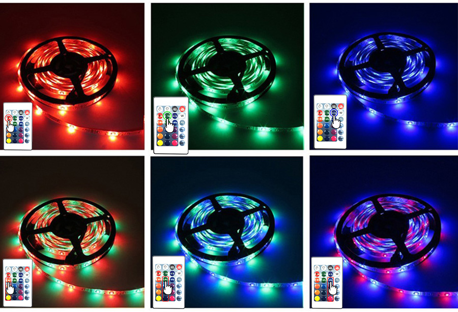 5 meter 300Leds Non-waterproof RGB Led Strip Light 2835 DC12V 60LedsM Flexible Lighting String Ribbon Tape Lamp Home Decoration (24)