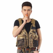 Outdoor Fishing Life Jacket Adult Men Kayak Life Vest Camouflage Swimming Jacket for Water Sport Drifting Jacket with whistling(China)