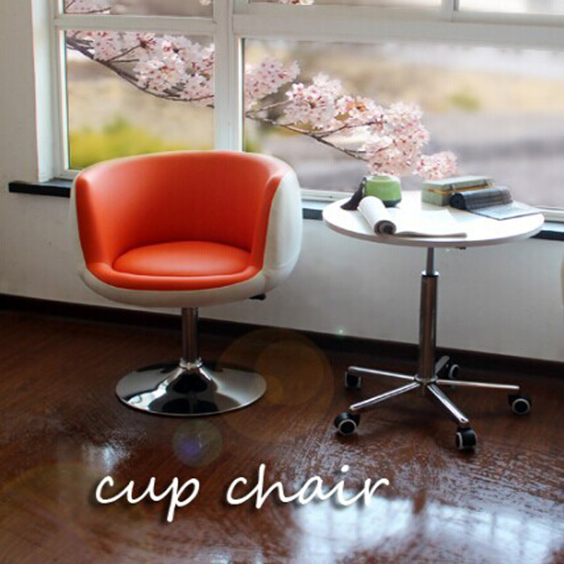 The living room sofa, rotating sofa,Cup chair, PU+ metal, lifting, office sofa,red/black/color chair,fashion furniture,EMS(China (Mainland))