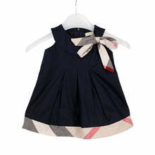 2016 Brand Baby dress for girls casual clothes babi girl dresses princess kids plaid summer baby girl dresses toddler clothing