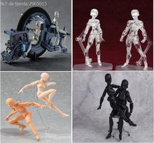2017 Figma Artist Movable Limbs Male Female 13cm PVC Sketch model Toy Figure Model Mannequin bjd Art Sketch Draw Action Figures