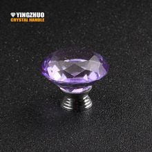2017 Sale Puxadores 40mm 5pcs Furniture Multicolor Choose K9 Crystal Glass Knobs Dresser Drawer Cabinet Door Handle Accessories