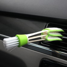 1Pcs Car Washer Double Ended Car Air Conditioner Vent Slit Cleaner Brush Instrumentation Dusting Blinds Keyboard Cleaning Brush