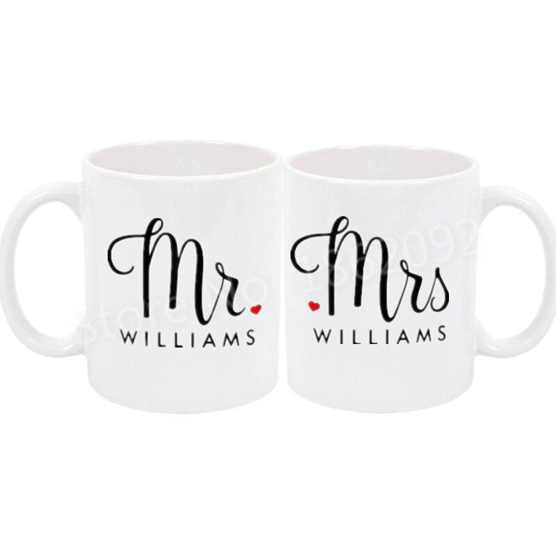 PERSONALISED WEDDING PRESENT MUG BRIDE GROOM ANNIVERSARY GIFT MR /& MRS NAMED CUP